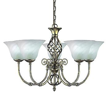 Searchlight 975-5 Cameroon Wrought Iron 5 Light Pendant