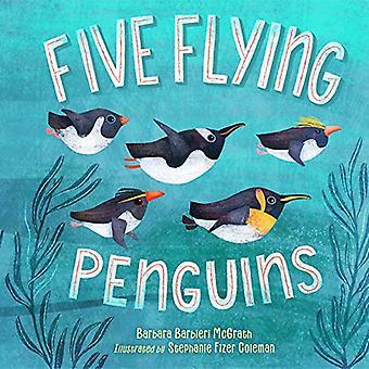 Cinq pingouins volants