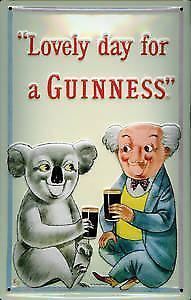 Guinness Koala Bear embossed steel sign