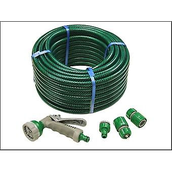 PVC REINFORCED HOSE 30M C/W FITTINGS & SPRAY GUN