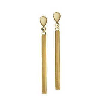 Eternal Collection Eldorado Gold Tone Drop Clip On Earrings