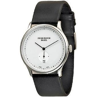 Zeno-Watch Herrenuhr Flat Bauhaus Quartz 6493Q-i2-Dots