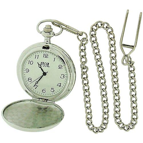 Boxx Gents White Dial Cricket Pocket Watch on 12 Inch Chain Boxx61