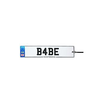 Babe Numberplate Car Air Freshener