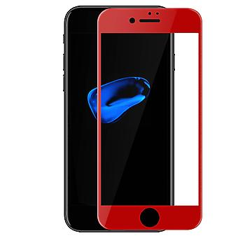 Tempered Glass Red Beveled Edges iPhone 7 and iPhone 8 - 3D Effect Technology