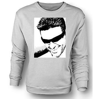 قميص رجالي من النوع الثقيل جورج مايكل--فن البوب-عمودي