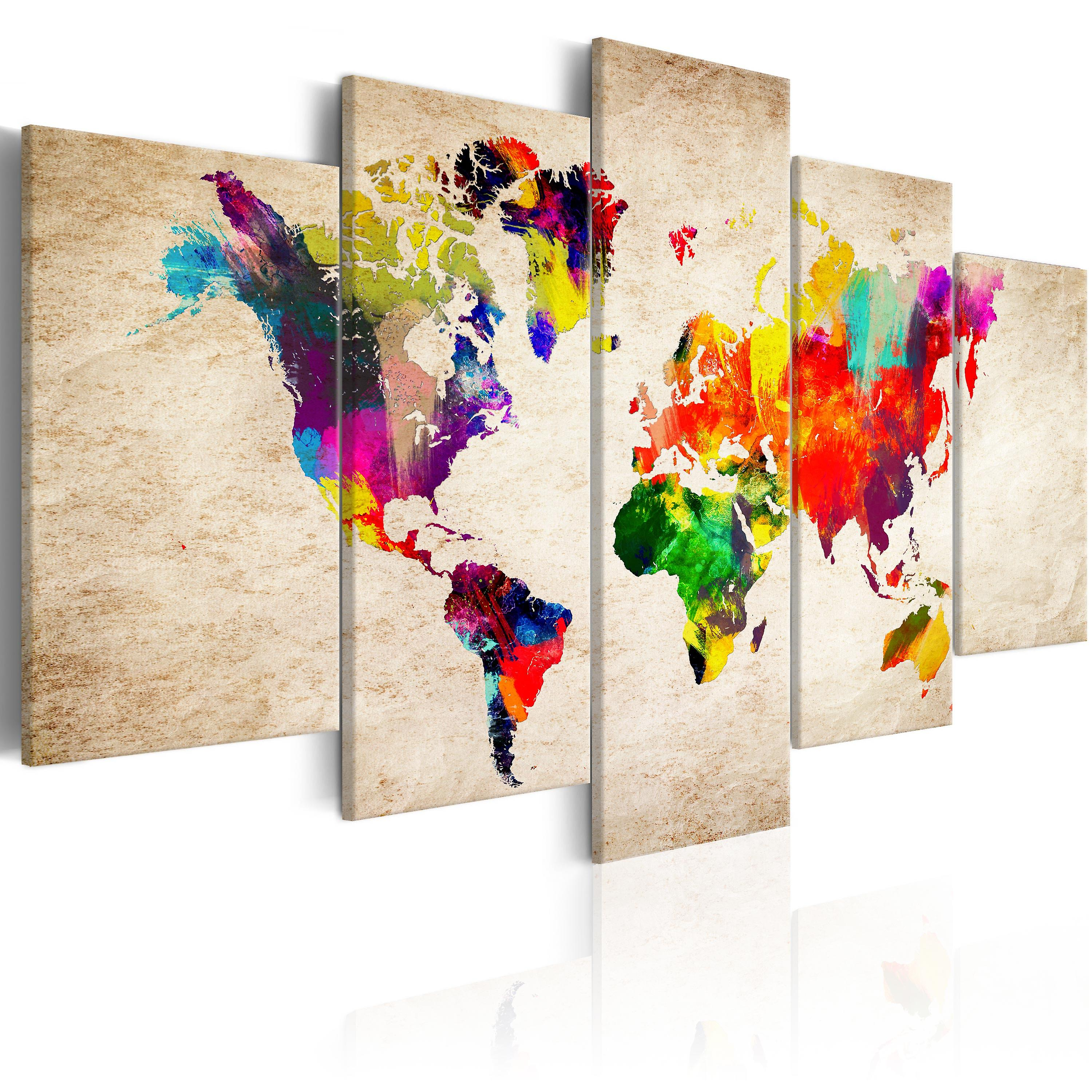 Tableau - World Map  Abstract Fantasy