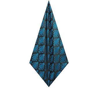 Dobell Mens Blue Pocket Square Handkerchief Satin Feel Fabric Jacquard Pattern