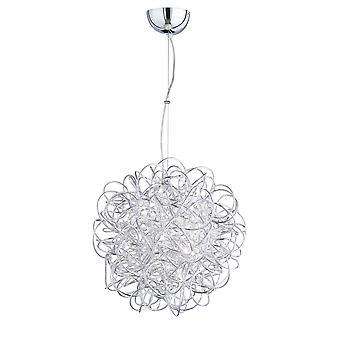 Wofi Apart - LED 1 Light Pendant Light Silver - 6366.01.70.7000