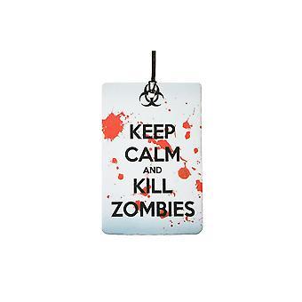 Keep Calm And Kill Zombies Car Air Freshener