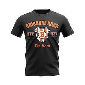 Brisbane Roar etabliert Fußball T-Shirt (schwarz)