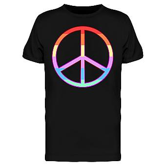 Peace Rainbow Pride Day Icon Tee Men's -Image by Shutterstock