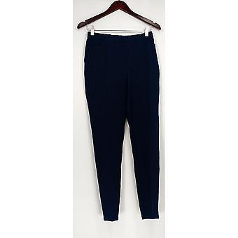Isaac Mizrahi Live! Women's Pants Regular 24/7 Stretch Slim Blue A309566