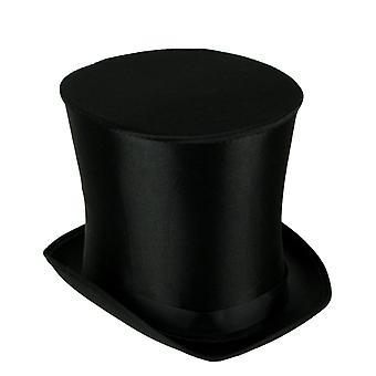 Satin Fabric Top Hat Adult Halloween Costume Accessory