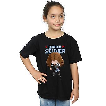Marvel Girls Winter Soldier Bucky Toon T-Shirt