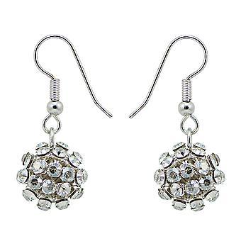 Crystal Mesh Ball Earrings EMB112.2