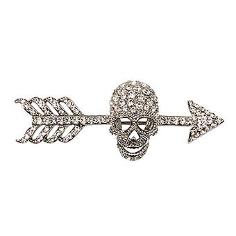 Butler  and  Wilson Arrow  and  Skull Crystal Brooch  Clear