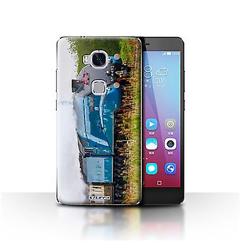 STUFF4 Case/Cover for Huawei Honor 5X/GR5/Dominion NZ/Blue/Steam Locomotive