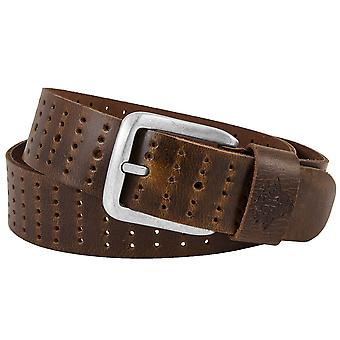 Billy the kid full leather belt with buckle M433-24