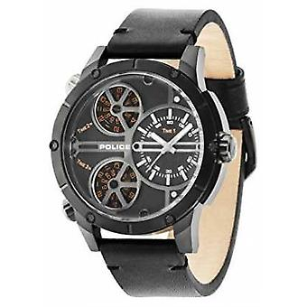 Police Mens Rattlesnake Black Multi Dial Leather Strap 14699JSB/02 Watch