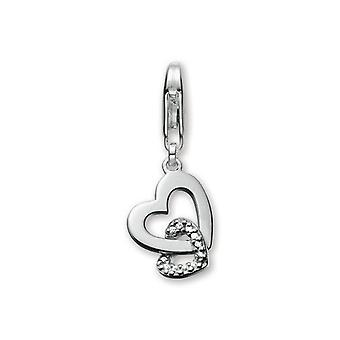 ESPRIT pendant of charms silver of zirconias heart ESZZ90487A000