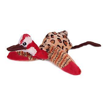 Flat Friend Skin Squeaky Dog Toy Red Head Duck 33cm (13