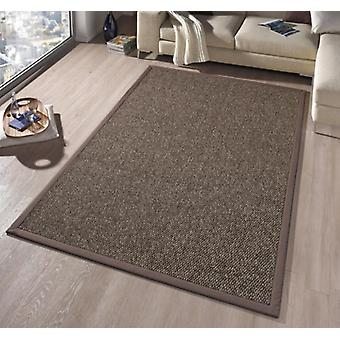 Design carpet Empire with trim, woven, high-deep look, Brown | 102265