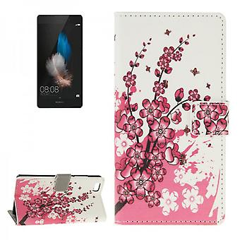 Pocket wallet premium pattern 6 for Huawei Ascend P8 Lite