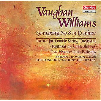 R. Vaughan Williams - Vaughan Williams: Symphony No. 8 in D Minor; Partita for Double String Orchestra; Etc. [CD] USA import