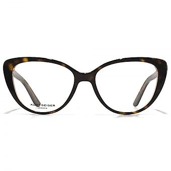 Kurt Geiger Libby Cateye Acetate Glasses In Tortoiseshell