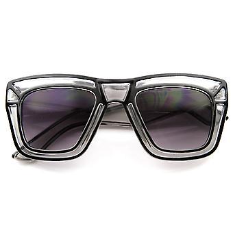 Designer Inspired Fashion Large Bold Translucent Horn Rimmed Style Sunglasses