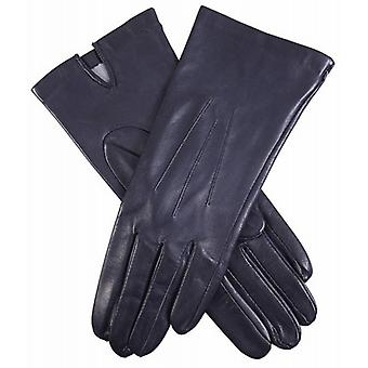 Dents Felicity Silk Lined Plain Hairsheep Leather Gloves - Navy