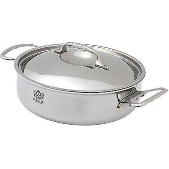 De Buyer AFFINITY sauté-pan with 2 handles and lid