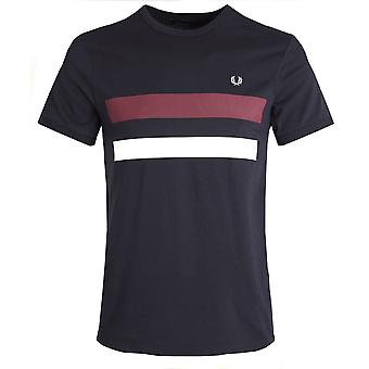 Fred Perry Crew Neck T-Shirt Block Panel