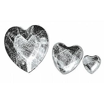 310 Heart Shaped Acrylic Rhinestones for Crafts - Silver