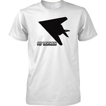 F117 Nighthawk Stealth Attack Aircraft - USAF Aircraft - Kids T Shirt