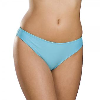 Camille Womens Blue High Leg Bikini Bottoms
