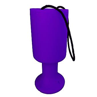 Round Charity Money Collection Box - Purple