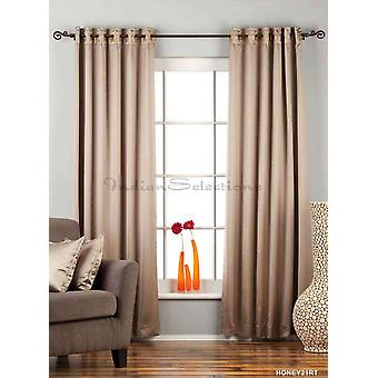 Brownish Gray Ring / Grommet Top 90% blackout Curtain / Drape / Panel  - Piece