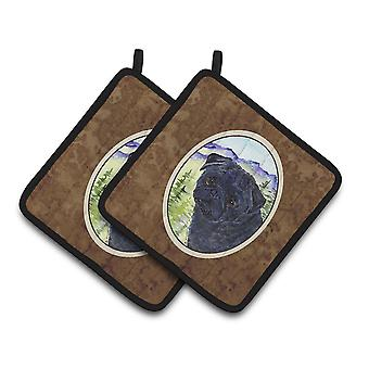 Carolines Treasures  SS8420PTHD Pug Pair of Pot Holders
