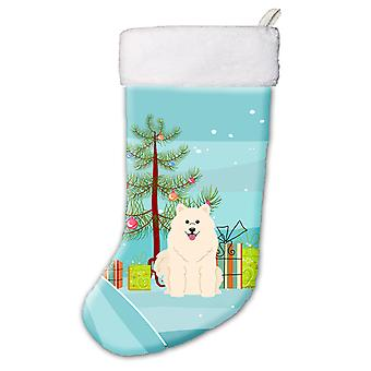 Carolines Treasures  BB4155CS Merry Christmas Tree Samoyed Christmas Stocking