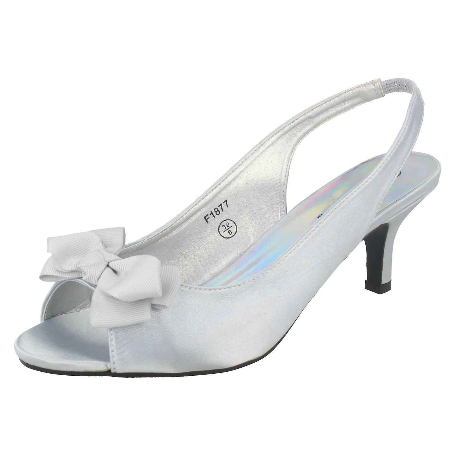 Ladies Spot su Slip su Slingback sandali con tacco