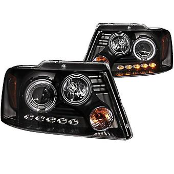 Anzo USA 111028 Ford F-150 Projector with Halo LED Black Headlight Assembly - (Sold in Pairs)