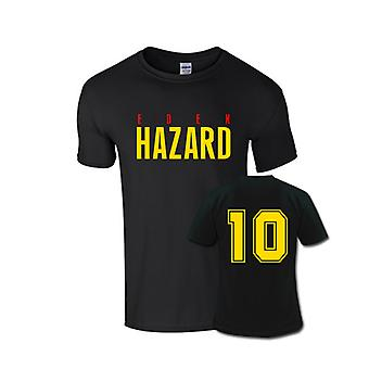 Eden Hazard Front Name T-shirt (black)