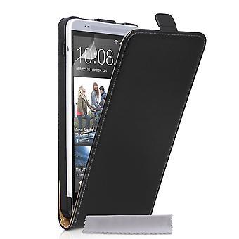 Caseflex HTC One Max Real Leather Flip Case - Black