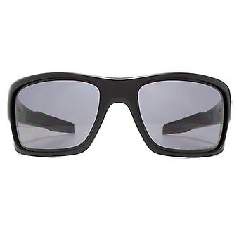 Oakley Turbine Sunglasses In Matte Black Grey Polarised