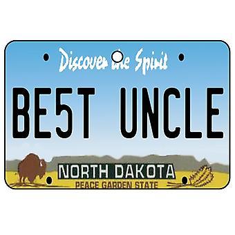 North Dakota - Best Uncle License Plate Car Air Freshener
