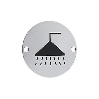 Zoo Shower Symbol - Satin Aluminium - ZSA04SS