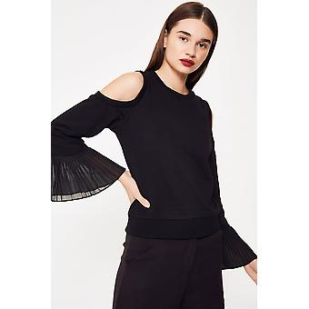 Cubic Cut Out  Jumper With Pleated Cuff