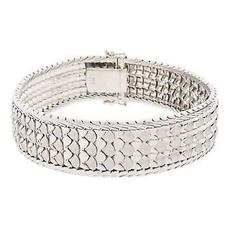 14 k White Gold link bracelet